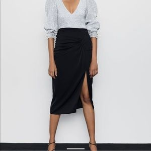 NWT Zara Draped Skirt